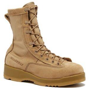 NWB Men's Belleville 790 Boots combat tan suede military work shoes size 9